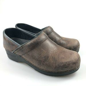 Sanita Womens Brown Clogs Comfort Casual Shoes 6